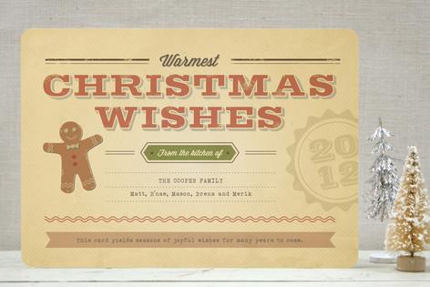 Retro Recipe Holiday Cards