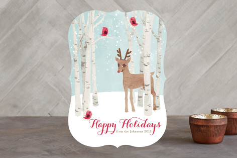 Reindeer in the Snow Holiday Cards