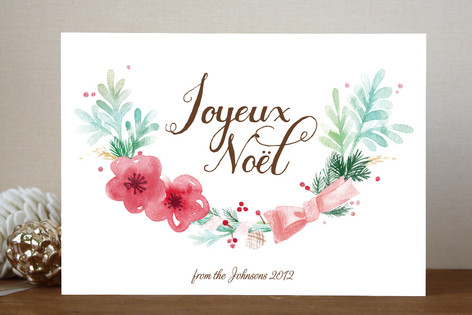 Noel Wreath Holiday Cards
