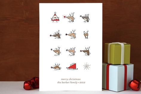 Triangle Santa Holiday Cards