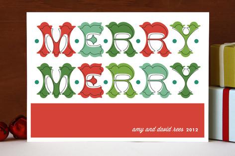 Folk Merry Merry Holiday Cards