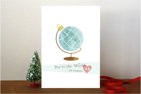 Holiday Globe Holiday Cards