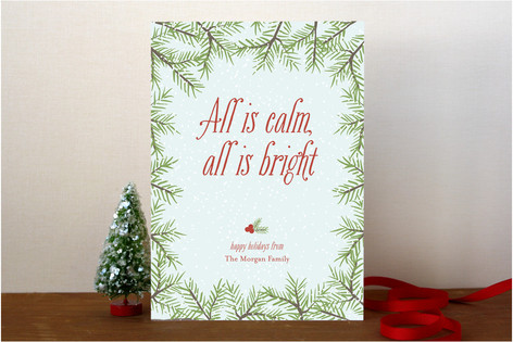 Calm & Bright Holiday Cards