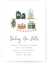 This is a brown non photo holiday card by Corinne Malesic called Decking New Halls with standard printing on signature in standard.