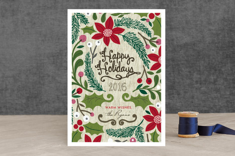 Sketchbook Foliage Holiday Cards