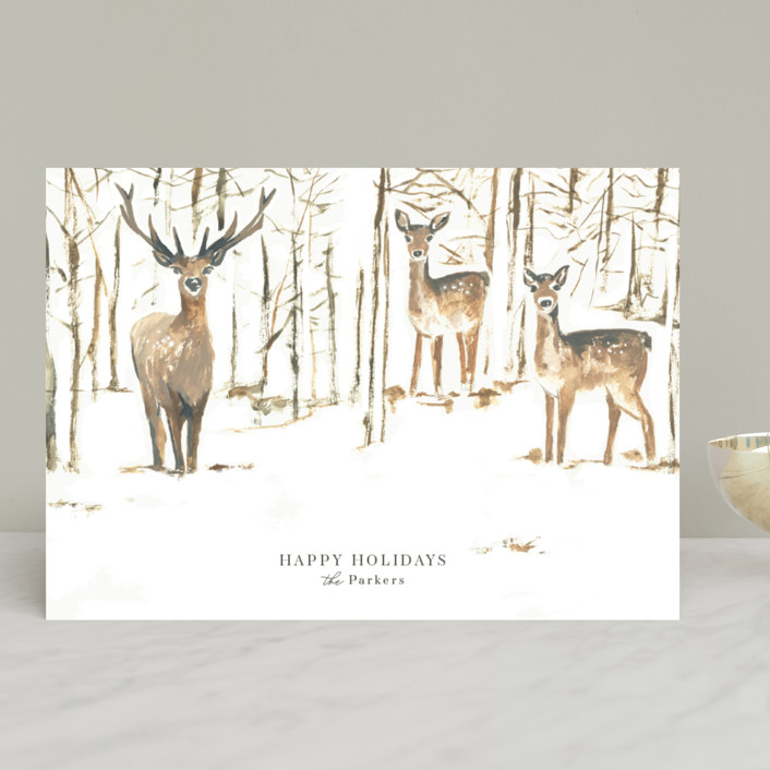 """""""Enchanted Forest"""" - Bohemian Holiday Cards in Halo by Teju Reval."""