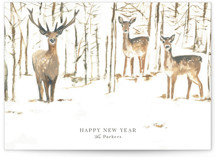 This is a brown non photo holiday card by Teju Reval called Enchanted Forest with standard printing on signature in standard.