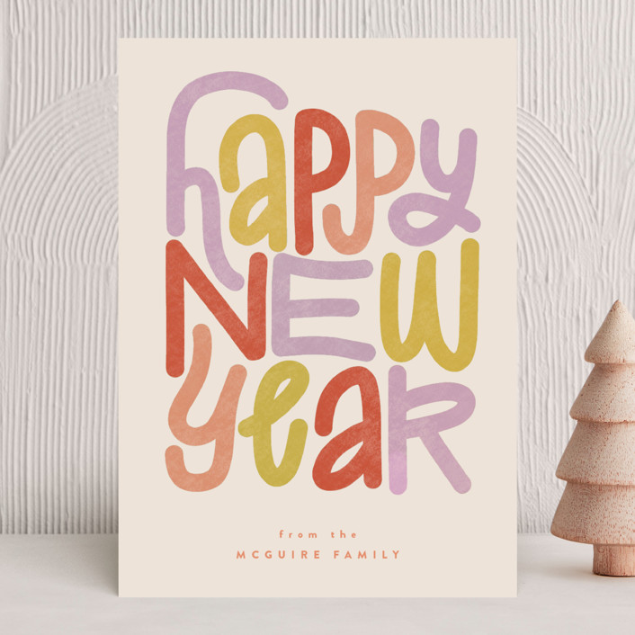 """""""typographc"""" - Holiday Cards in Confetti by Jen Owens."""