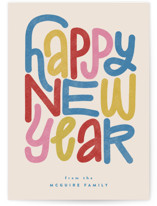 This is a colorful non photo holiday card by Jen Owens called typographc with standard printing on signature in standard.