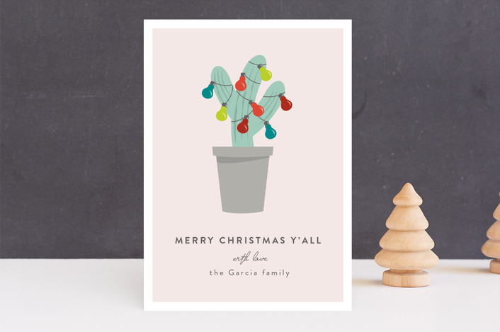 texas christmas tree funny holiday cards in taupe by kampai designs - Texas Christmas Cards