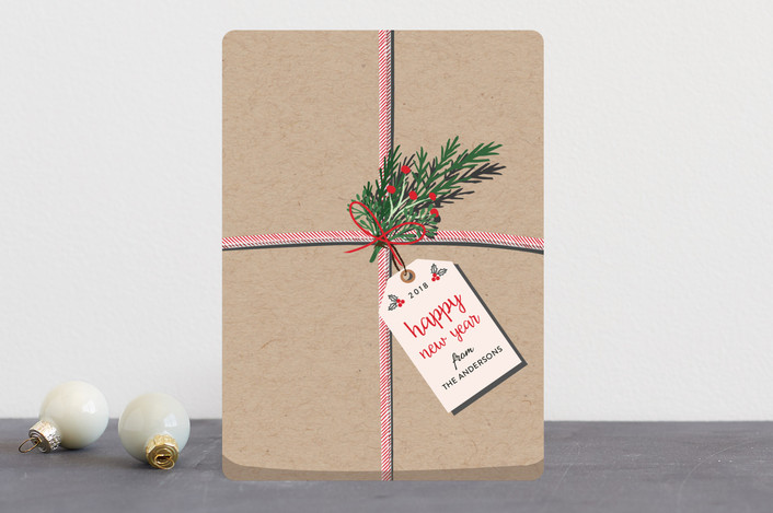 """""""The Gift"""" - Vintage Holiday Cards in Kraft by Elly."""