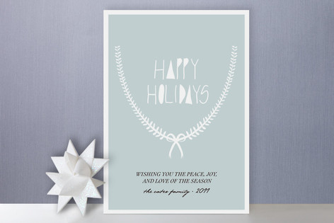 Delicate Garland Holiday Cards