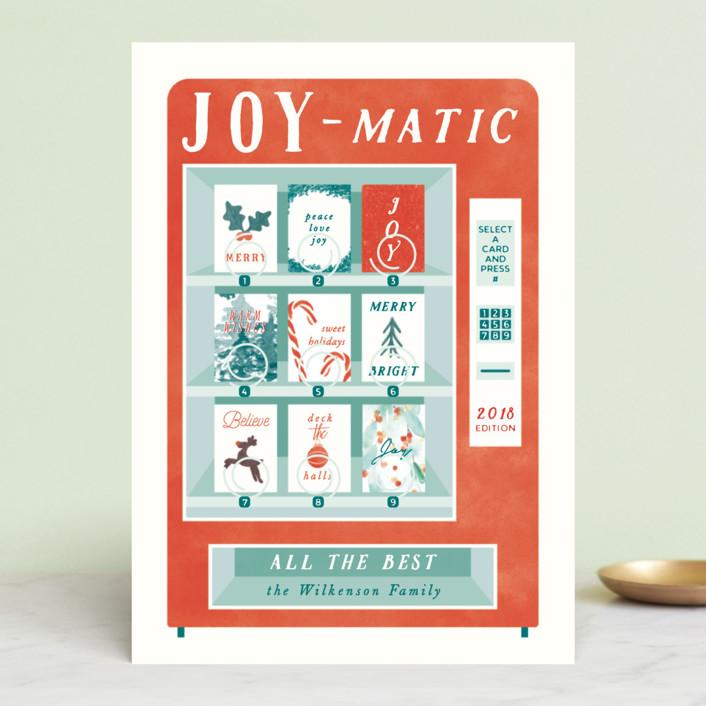 """Joymatic"" - Vintage Holiday Cards in Santa by Gwen Bedat."