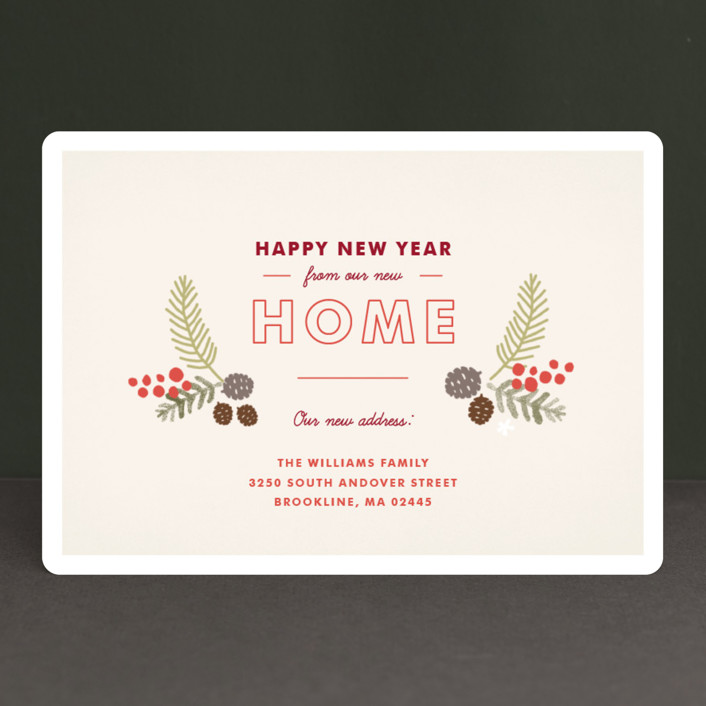 home for the holidays holiday cards in cream by jennifer wick