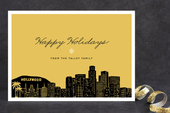 """""""Big City - Los Angeles"""" - Cities & States, Modern Holiday Cards in Sunshine by Hooray Creative."""