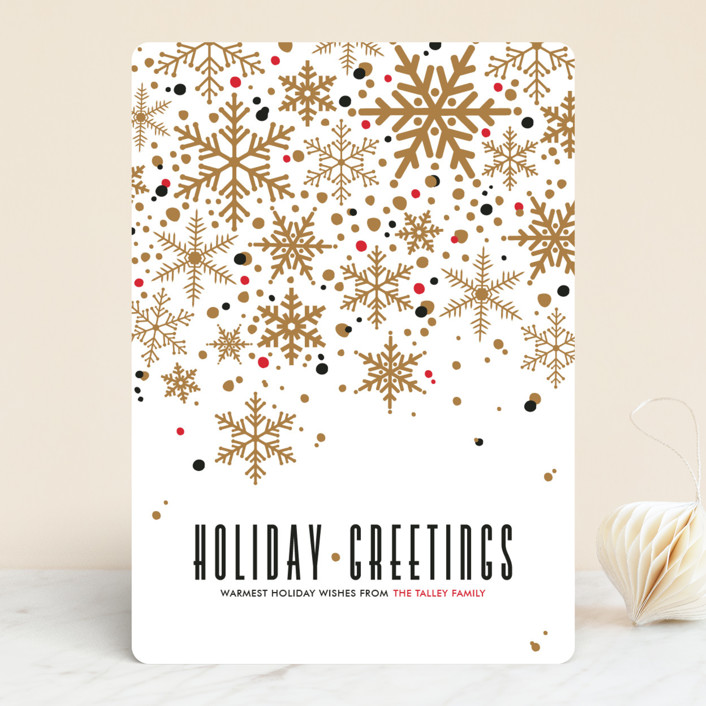 """""""Sophisticated Snow"""" - Vintage Holiday Cards in Brass by Pistols."""