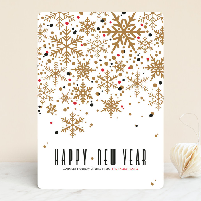 """Sophisticated Snow"" - Vintage Holiday Cards in Brass by Pistols."