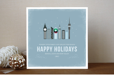 Winter Cityscape Holiday Cards