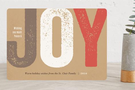 Joy Impressed Holiday Cards