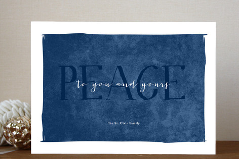 Simple Peace Holiday Cards