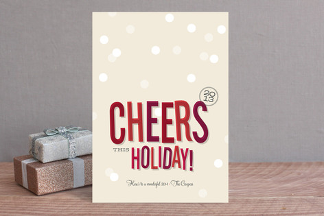 Cheers New Year Holiday Cards