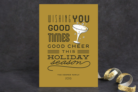 Good Cheer & Happy New Year Holiday Cards