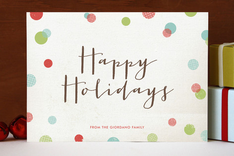 Dotty Holiday Holiday Cards