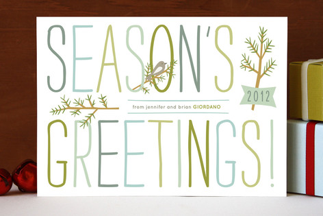 Branch and Bird Holiday Cards