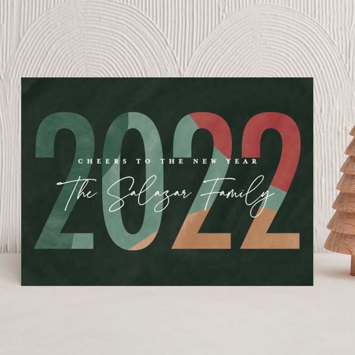 """""""New Year"""" - Holiday Cards in Garland by Pixel and Hank."""