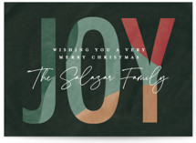 This is a green non photo holiday card by Pixel and Hank called New Year with standard printing on signature in standard.