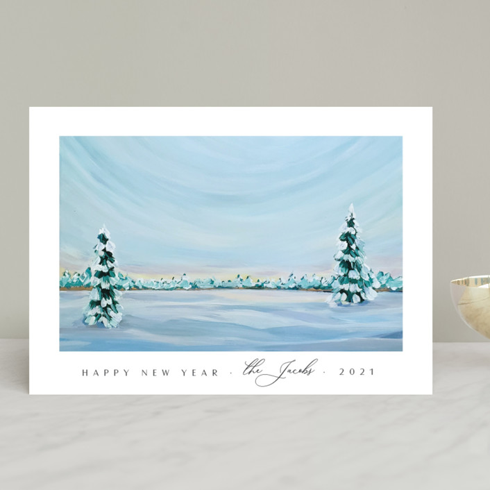 """""""Morning Light"""" - Holiday Cards in Snowfall by Nicole Walsh."""