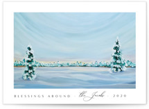 This is a white non photo holiday card by Nicole Walsh called Morning Light with standard printing on signature in standard.