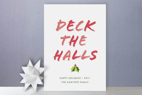 Deck the Halls Holiday Cards