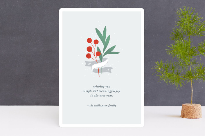 """""""Simple Joys"""" - Holiday Cards in Frost by Paper Raven Co.."""