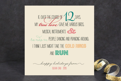 12 Days Reality Check Holiday Cards