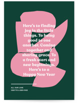 This is a green non photo holiday card by Annie Clark called Ellsworth with standard printing on signature in standard.