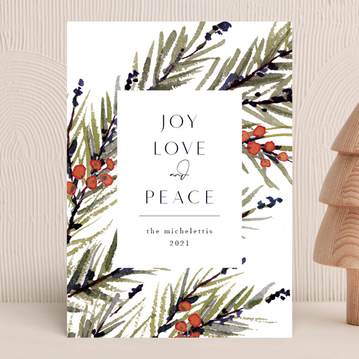 """""""Holiday Pine"""" - Holiday Cards in Poppy by Chris Griffith."""