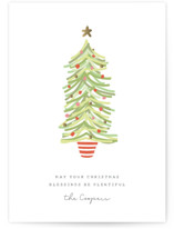 This is a orange non photo holiday card by Sara Hicks Malone called finding merry with standard printing on signature in standard.