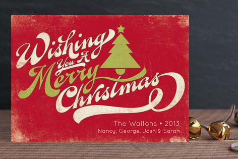 Merry Retro Christmas Holiday Cards
