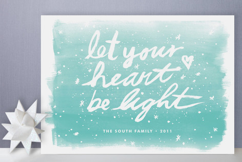 Let Your Heart Be Light Holiday Cards