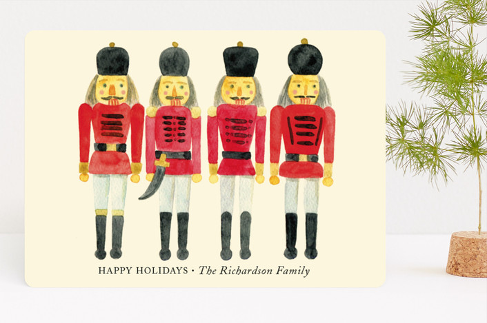 """A Nutcracker Christmas"" - Vintage Holiday Cards in Almond by Alexandra Dzh."
