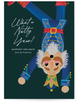 This is a green non photo holiday card by Jackie Crawford called Nutty Year with standard printing on signature in standard.