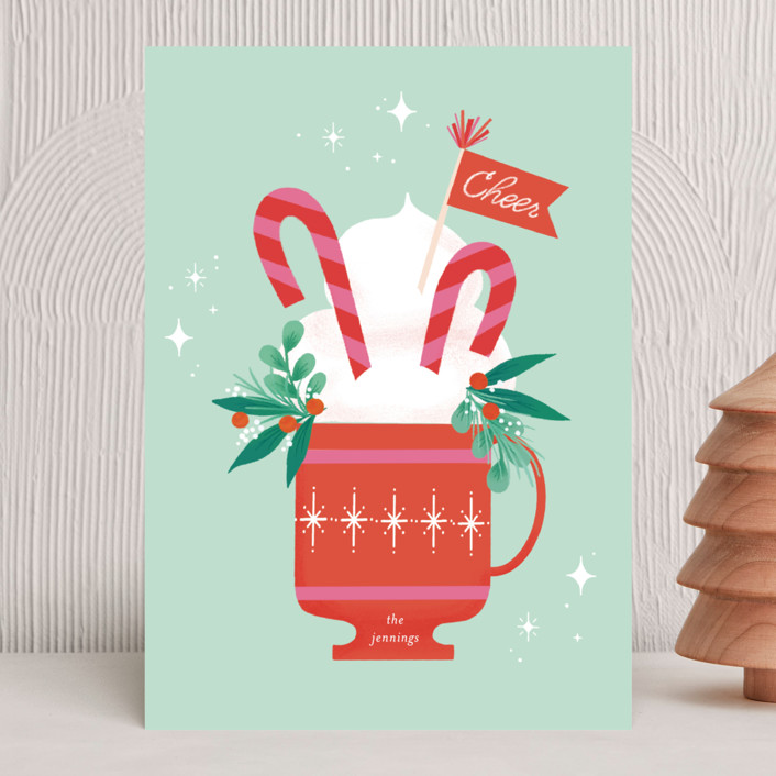 """""""Cup of Cheer"""" - Vintage Holiday Cards in Mint by Itsy Belle Studio."""