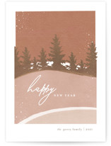 This is a brown non photo holiday card by Robin Ott called Fallen Snow with standard printing on signature in standard.