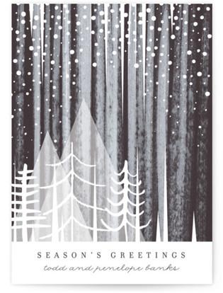 Snowfall Holiday Non-Photo Cards