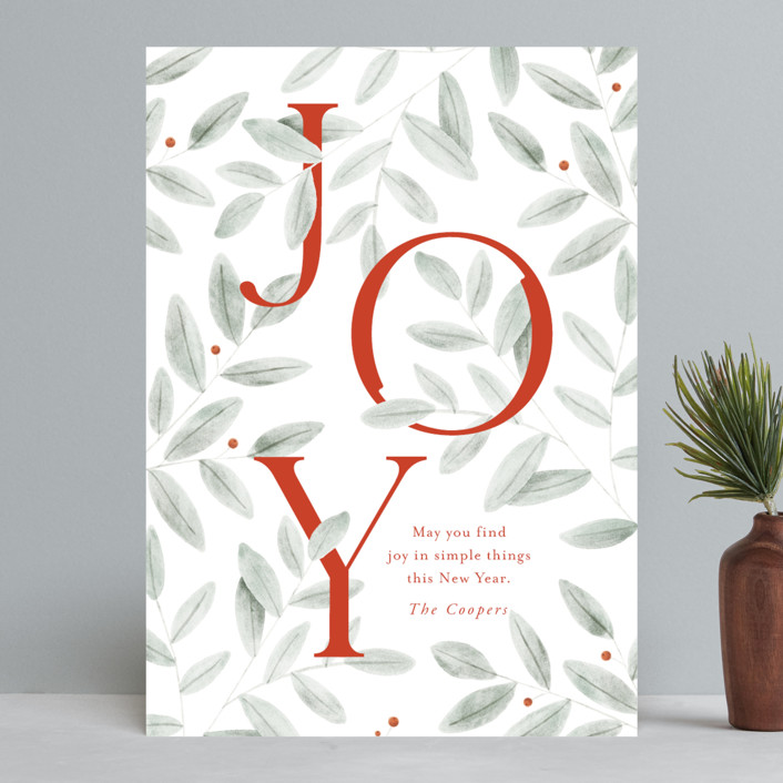 """""""finding joy"""" - Holiday Cards in Santa Suit by Oscar and Emma - Karly Depew."""