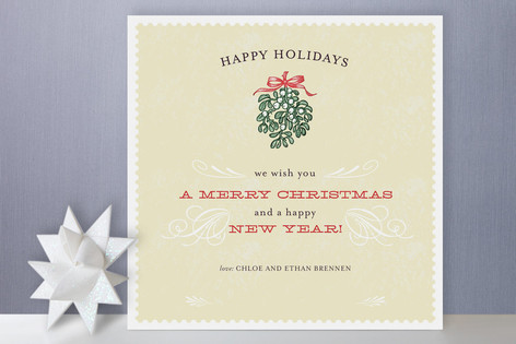 Mistletoe Flourish Holiday Cards