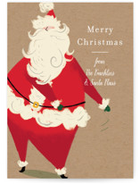 This is a brown non photo holiday card by Baumbirdy called Santa Flaus with standard printing on signature in standard.