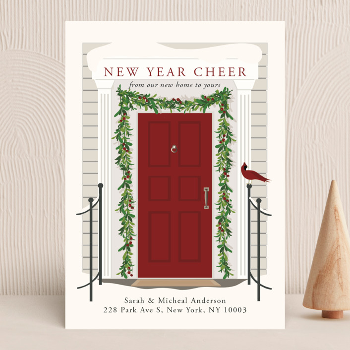 """From our home to yours"" - Vintage Holiday Cards in Candy Cane by Susan Moyal."