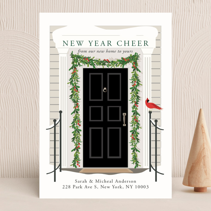 """""""From our home to yours"""" - Vintage Holiday Cards in Candy Cane by Susan Moyal."""